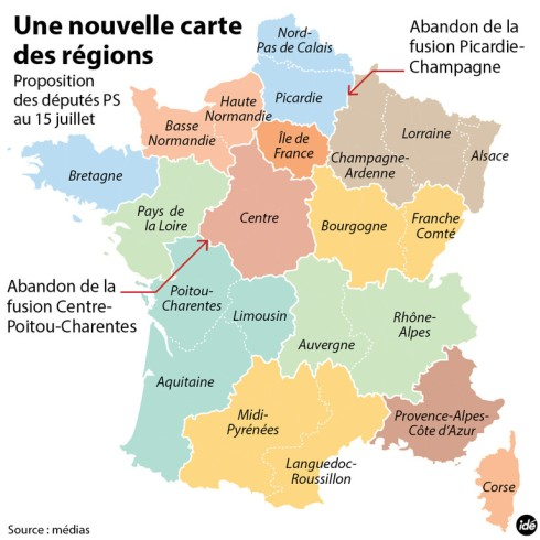 Réforme des Régions. Marianne découpe et redécoupe.
