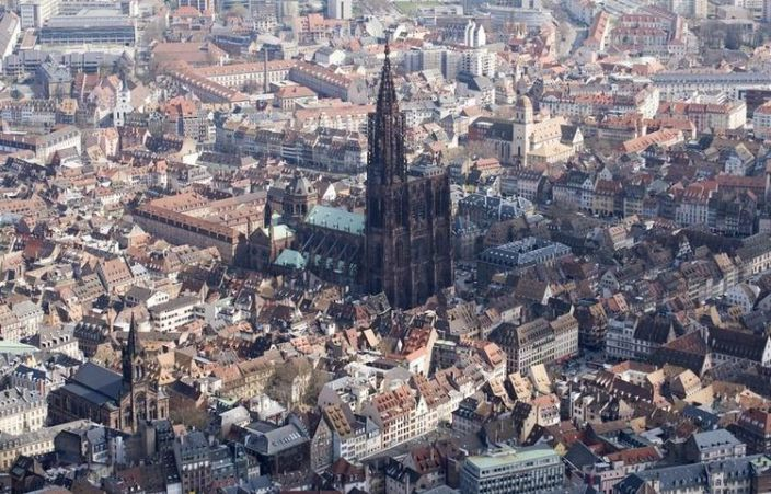 496352-an-aerial-picture-shows-the-french-city-of-strasbourg-and-its-landmark-the-cathedral-of-our-lady-of-