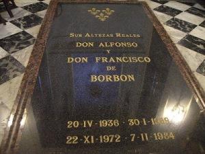 Sépulture d'Alphonse de Bourbon