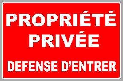 propriete-privee-defense-dentrer-30cmx20cm-autocollant-sticker-pb499