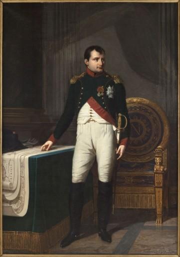 Robert Lefèvre. Portrait de Napoléon Ier (1769-1821), en uniforme de colonel des chasseurs de la Garde. Huile sur toile, 1809. Paris, musée Carnavalet. Dimensions : 2,26 x 1,57