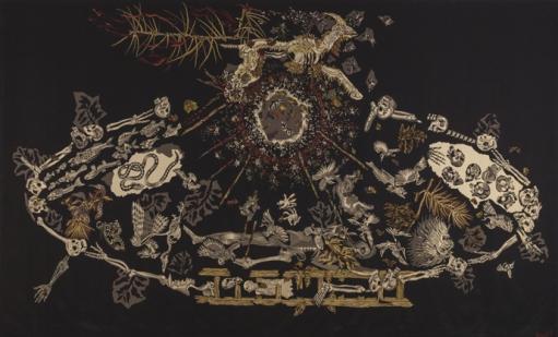 TENTURE DU CHANT DU MONDE, OEUVRE DE JEAN LURCAT EXPOSE A L'HOPITAL SAINT JEAN. LE GRAND CHARNIER.