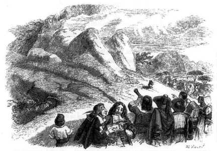 fable-de-la-fontaine-illustration-grandville-la-montagne-qui-accouche